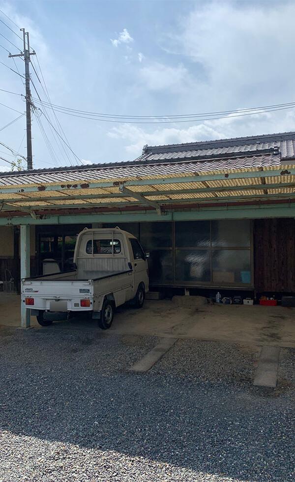 小屋改修工事